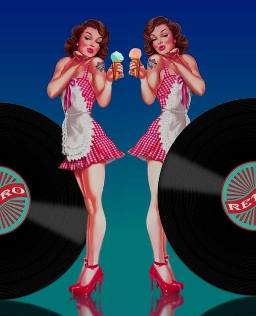 Pin-up, Pin Up Girl, Twin, Jukebox Music, Years 50