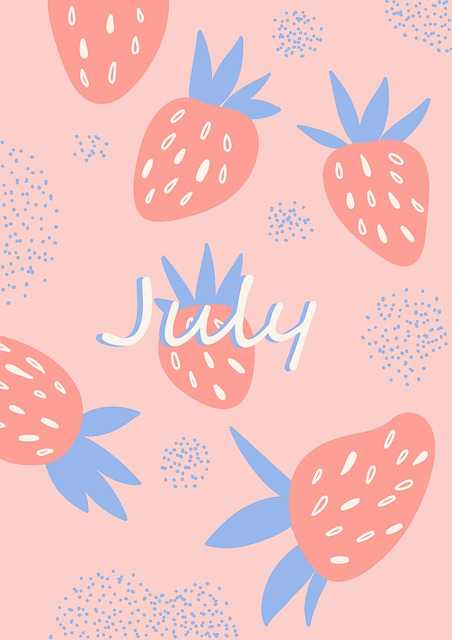 July, Summer, Strawberry, Pink, Berry, Strawberries