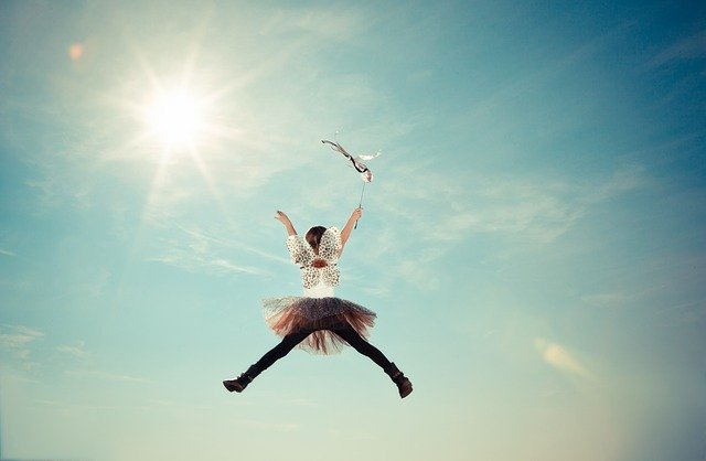 Child, Costume, Fairy, Fly, Girl, Heaven, Jump, Light