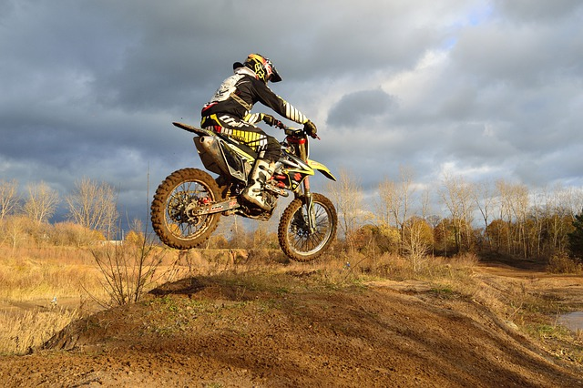 Dirt Bike, Motorcycle, Jump, Autumn, Bike, Race, Speed