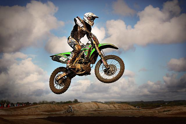 Motocross, Jump, Motorcycle, Speed, Brown, Vehicle