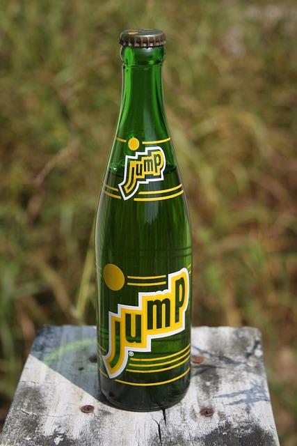 Jump Vintage Soda Bottle, Vintage Soda Bottle