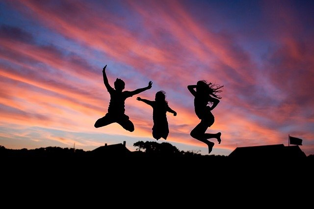People, Jumping, Happiness, Happy, Fun, Young, Joy