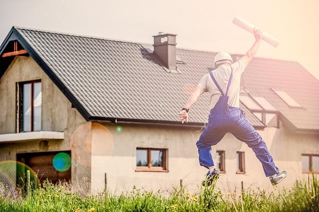 Architect, Man, Jump, Jumping, Building, Joy, Planning