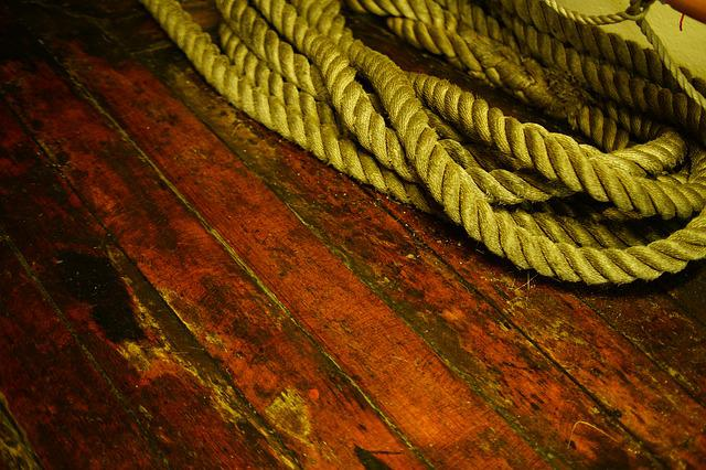 Wood, Background, Rope, Texture, Wooden, Junction, Old