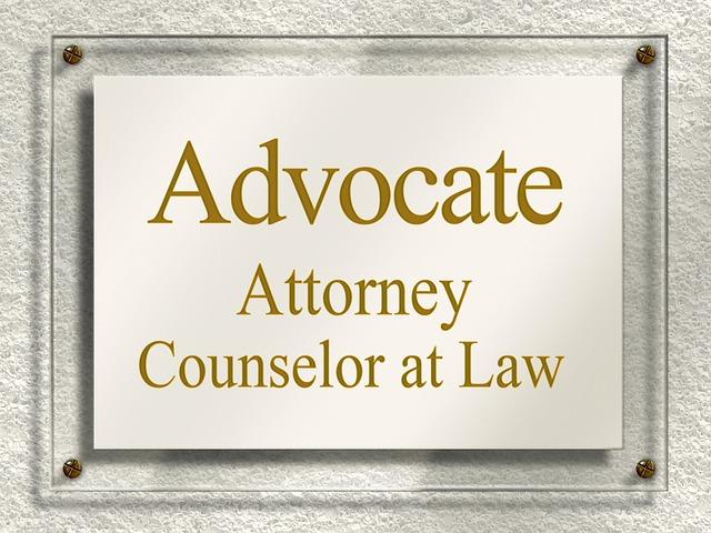 Door Sign, Nameplate, Attorney, Lawyer, Jura, Law