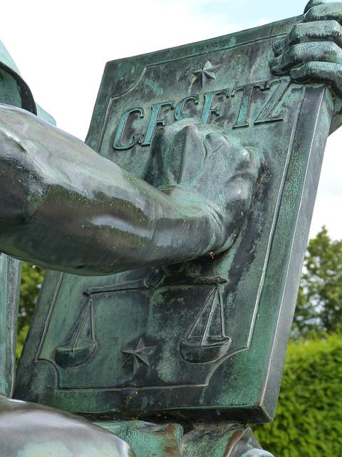Sculpture, Justizia, Schwerin, Mecklenburg