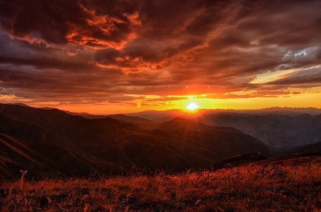 Sunset, Dawn, Turkey, Nature, Landscape, Kaçkars
