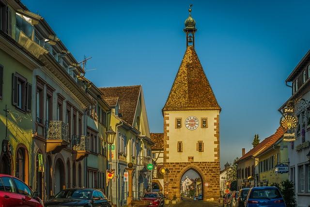 Goal, Small Town, Endingen, Kaiserstuhl, City Gate
