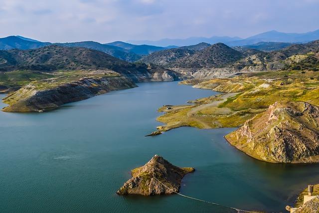 Cyprus, Kalavassos, Lake, Dam, Water, Nature, Landscape