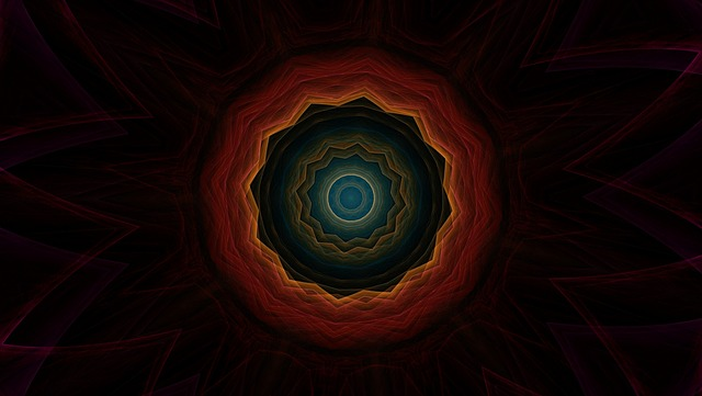 Cosmic Eye, Kaleidoscope Art, Pattern, Ornament, Border