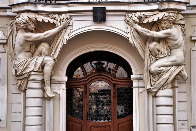 Kamienica, Monument, The Door, Sculpture, Architecture