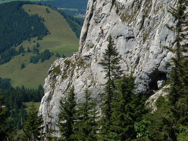 Free Climbing, Mountaineer, Kampenwand, Rock, Chiemgau