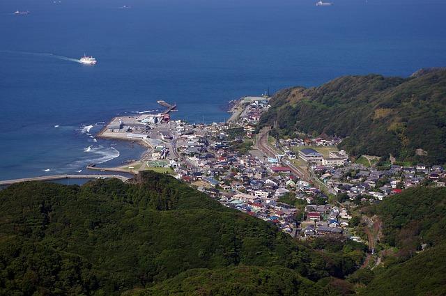 Tokyo Bay, Japan, Ferry, Kanaya Port, Landscape