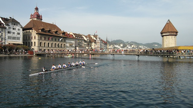 Lucerne, Reuss Sprint, Kappel Bridge, Water Tower