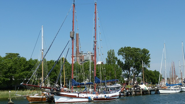 Schlei, Water, Kappeln, Mecklenburg, Boats, Port, Sky