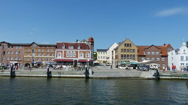 Schlei, Water, Kappeln, Mecklenburg, Port, Building