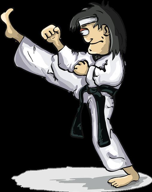 Wind Warrior, Blow, Karate, Kimono, Kyokushin, Leg