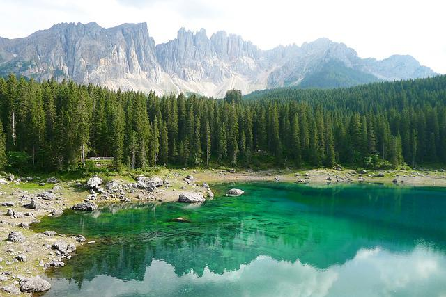 Bergsee, Dolomites, Karersee, South Tyrol, Nature
