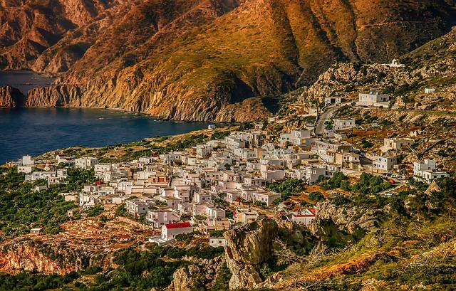Nature, Landscape, Mesochori, Karpathos Island, Greece