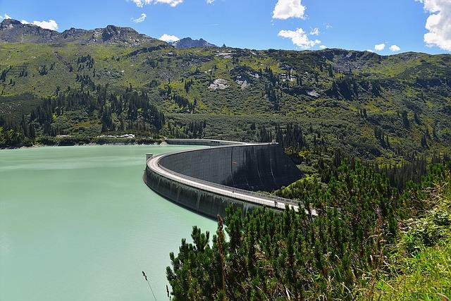 Kaunertal, Dam, Kopfssee, Tyrol, Panorama