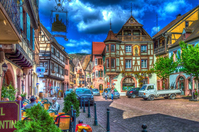 Kaysersberg, Alsace, France, Truss, Old Town