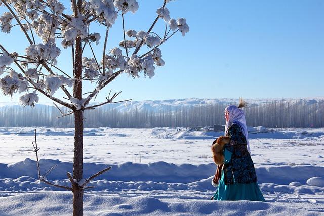 Kazakh, Buerjin, Snow