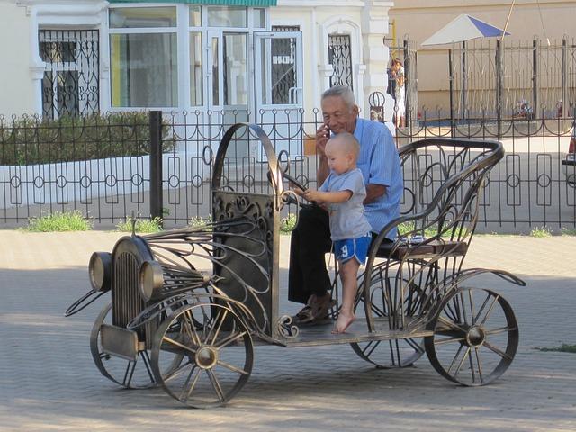 Automobile, Child, Kazakhstan, City Of Uralsk