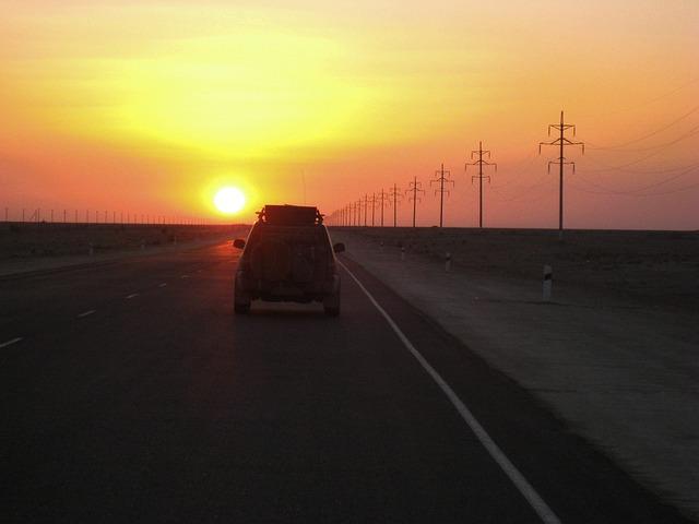 Kazakhstan, Sunset, Desert, Sand