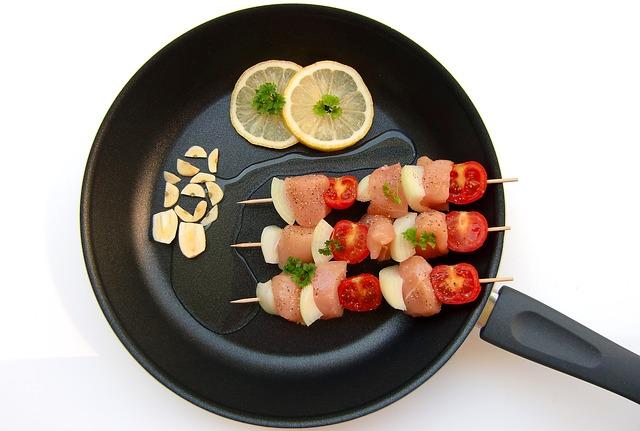 Meat, Kebab, Pan, Fry, Eat Healthy
