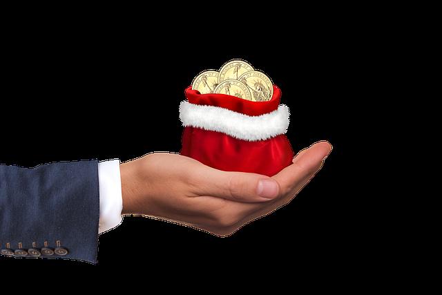 Christmas Money, Money, Gift, Hand, Keep, Give, Dollar