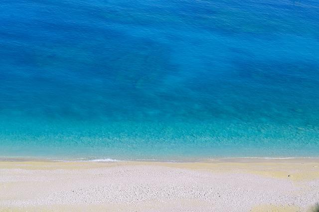 Turquoise, Beach, Blue, Myrtos, Kefalonia, Coastline