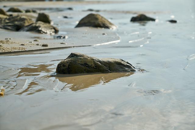 Kennedy, Sand, Beach, Water, Texture, Pattern
