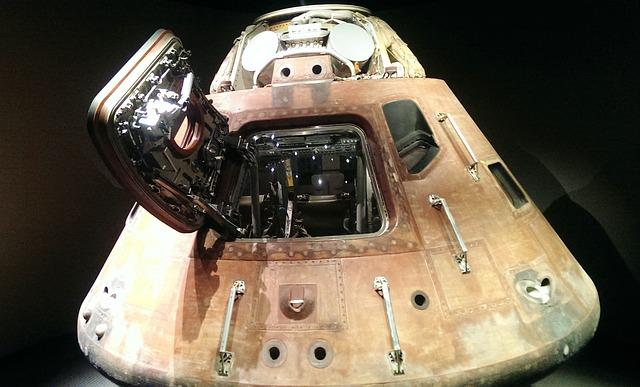 Space Capsule, Landing Module, Kennedy Space Center