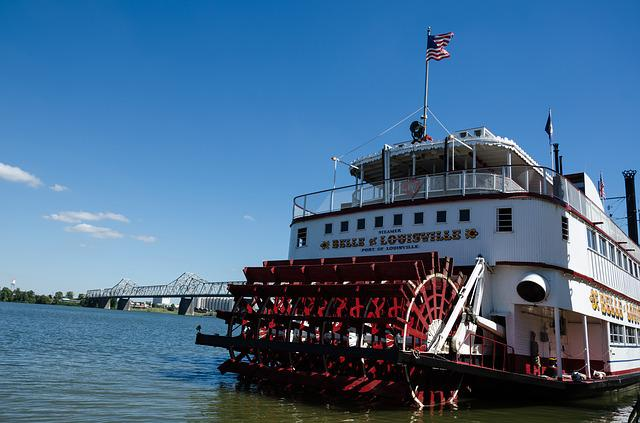 Kentucky, Usa, America, Paddle Steamers, Louisville