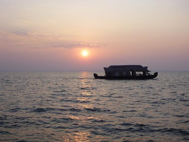 Houseboat, Backwaters, Brackish, Kerala, Tourism