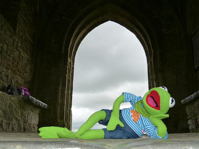Glastonbury Tor, England, United Kingdom, Kermit, Frog