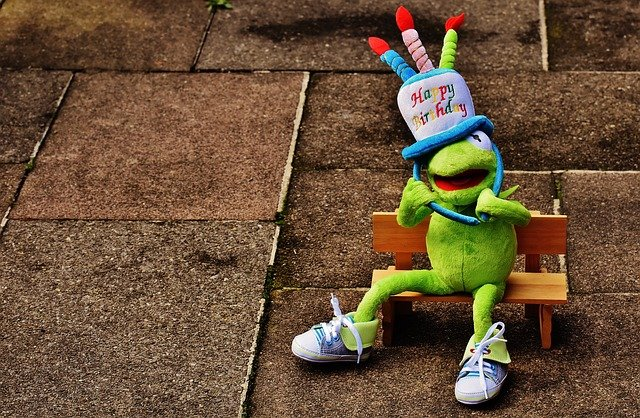 Birthday, Congratulations, Kermit, Frog, Greeting Card