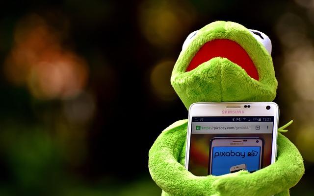 Kermit, Frog, Smartphone, Pixabay, Image Database