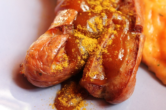 Currywurst, Bart Sausage, Sausage, Curry, Ketchup