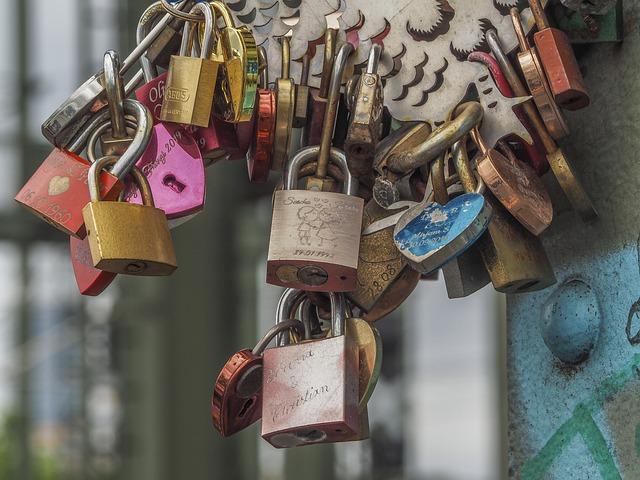 Castles, Love, Key, Cologne, Valentine's Day, Heart