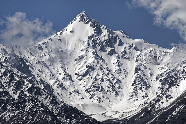 Pakistan, Kharut Pyramid, Mountain, Snow, Hindu Kush