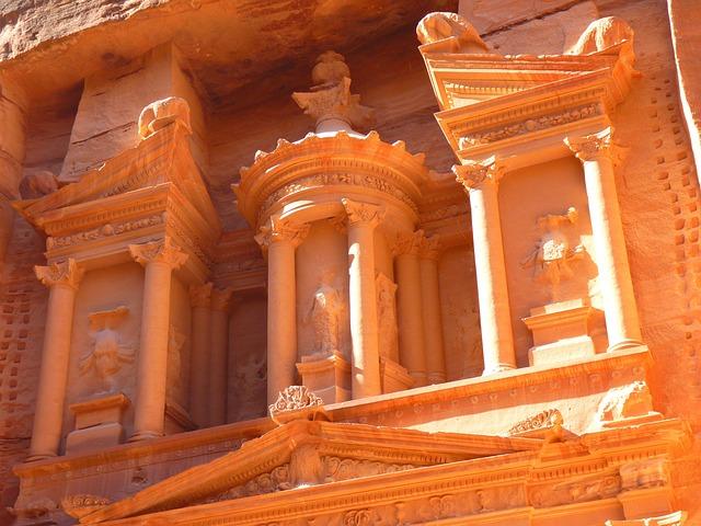 Petra, Jordan, Treasury, Khazne Firaun Al, Temple