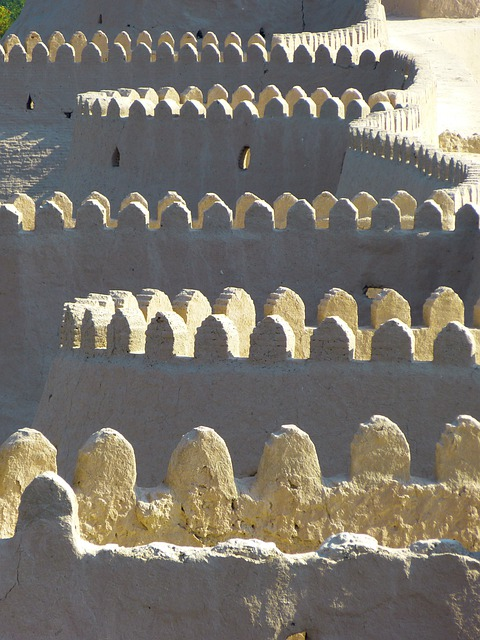 Khiva, City Wall, Battlements, Old
