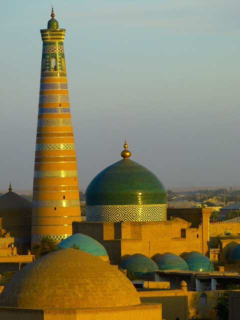 Khiva, City, City View, Old, Abendstimmung, Uzbekistan