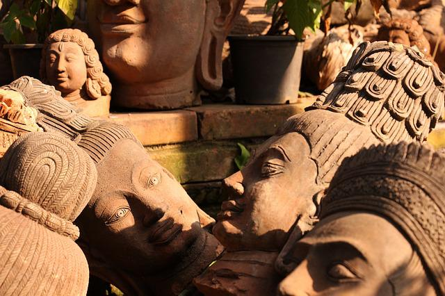 Clay Sculpture, Pottery, Khmer