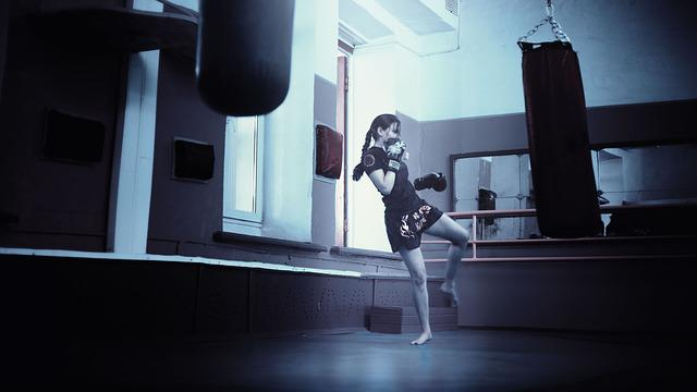 Kickboxer, Girl, Kickboxing, Athletic Girl, Long Hair