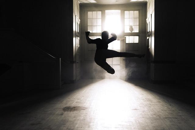 Action, Art, Backlit, Doors, Indoors, Kicking, Motion