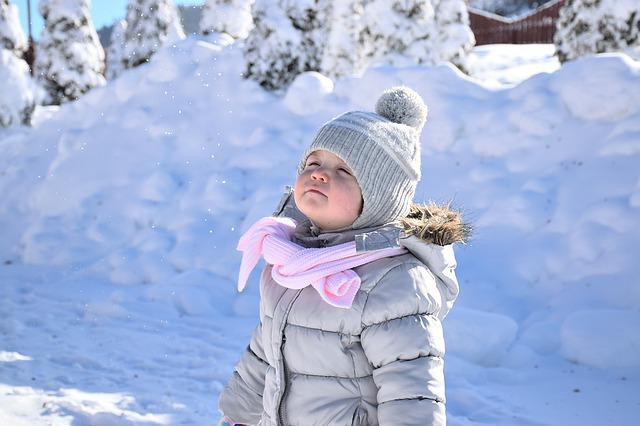 Snow, Baby, Girl, White, Happy, Season, Winter, Kid