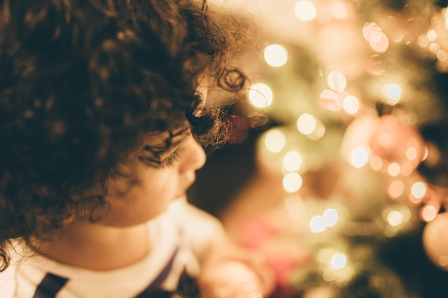 Child, Christmas, Christmas Lights, Kid, Young